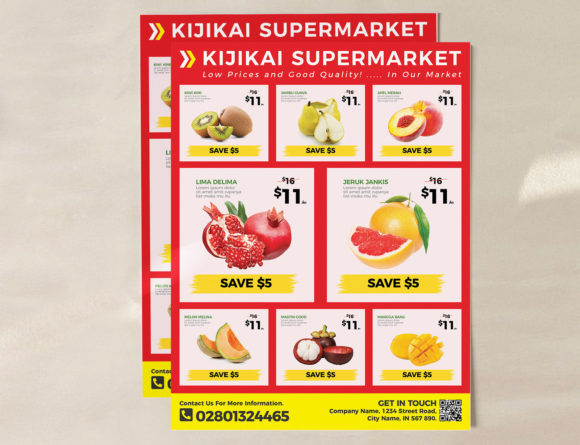 Download Free Supermarket Grocery Flyer Template Grafico Por Ivanjoys19 for Cricut Explore, Silhouette and other cutting machines.