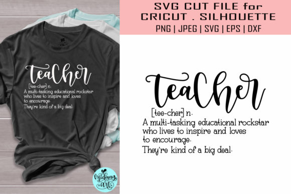 Download Free Teacher Definition Teacher Graphic By Midmagart Creative Fabrica for Cricut Explore, Silhouette and other cutting machines.