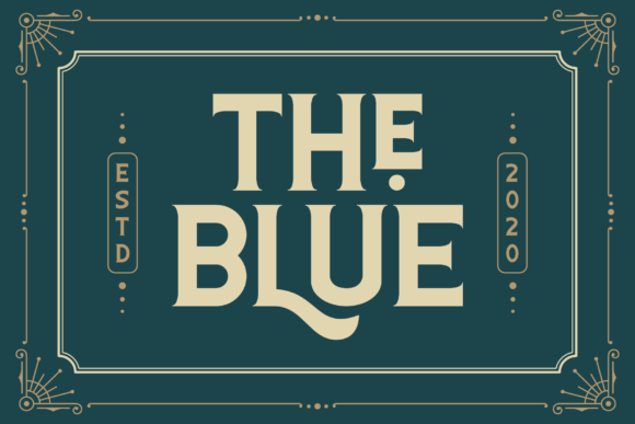 Print on Demand: The Blue Display Font By Pen Culture