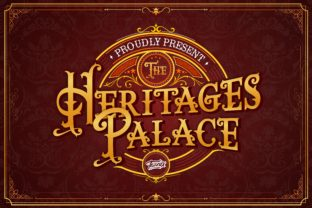Print on Demand: The Heritages Palace Display Font By taznixart