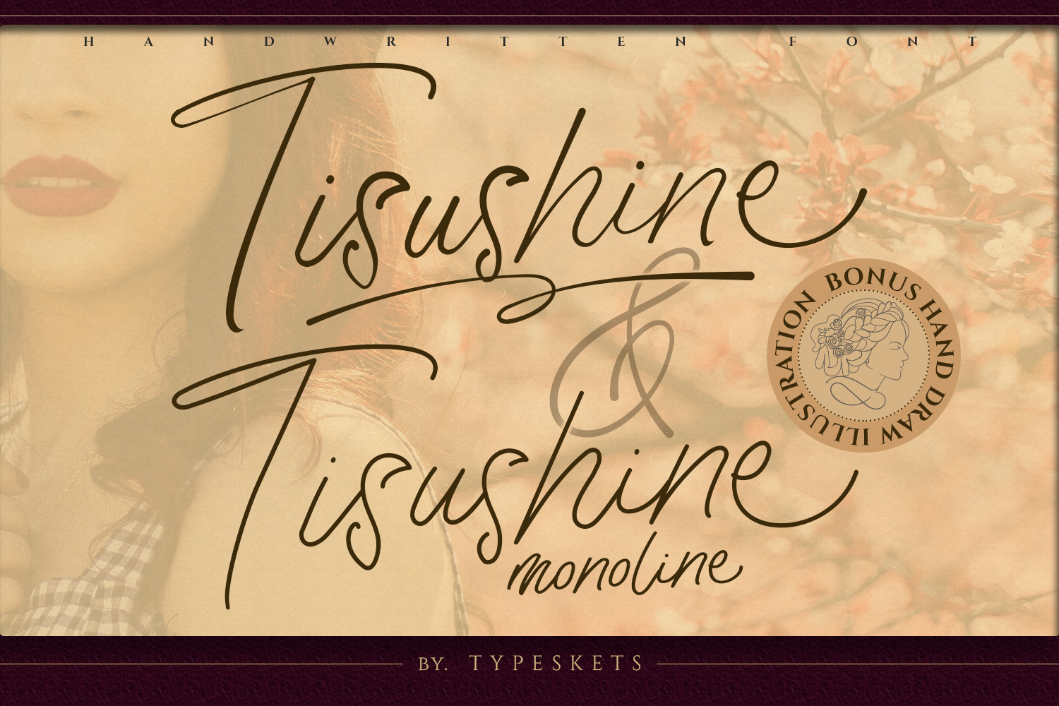 Download Free Tisushine Font By Typeskets Creative Fabrica for Cricut Explore, Silhouette and other cutting machines.