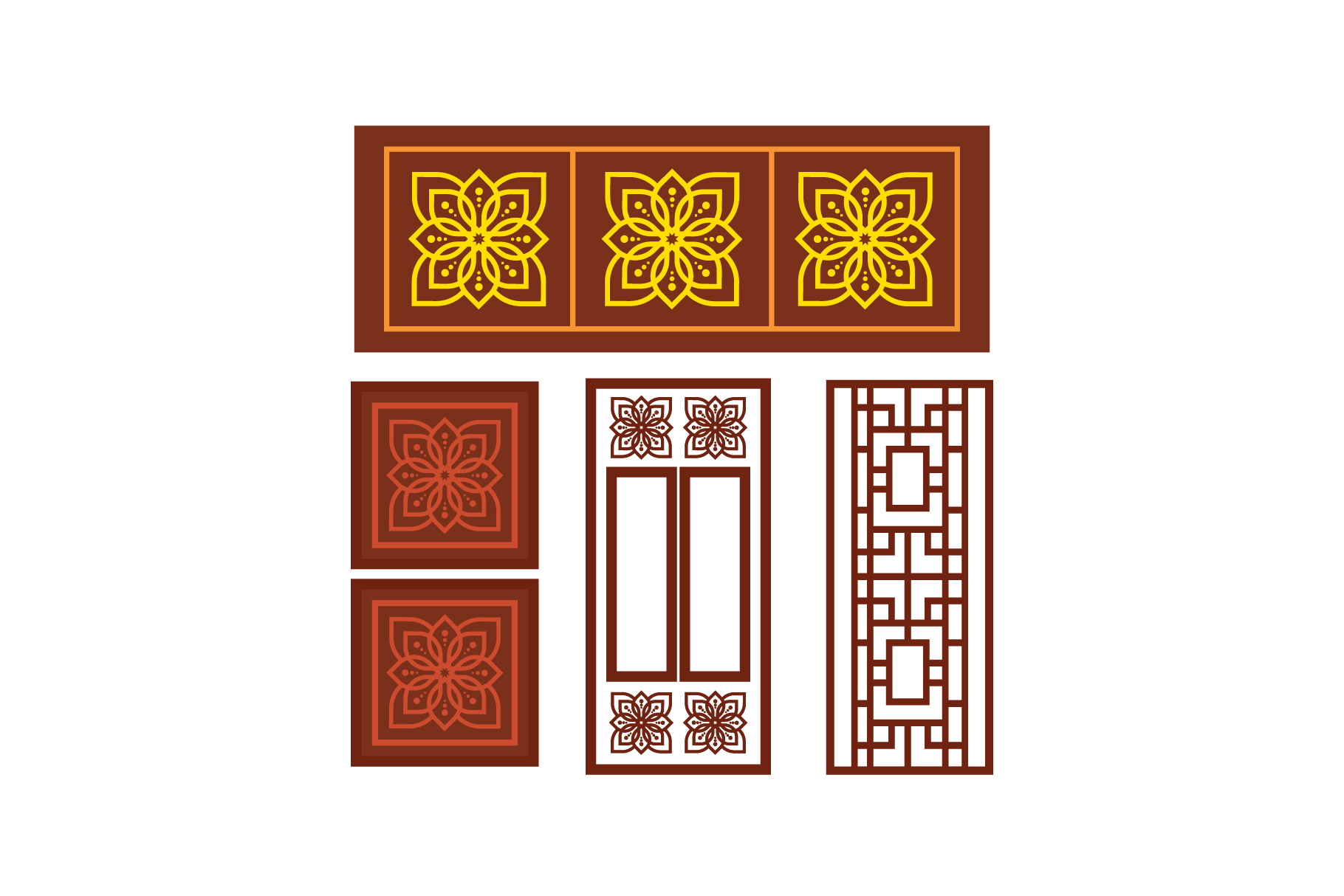 Download Free Traditional Arabic Window Ornament Graphic By Griyolabs for Cricut Explore, Silhouette and other cutting machines.