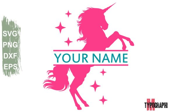 Download Free Unicorn Monogram Graphic By Typography Morozyuk Creative Fabrica for Cricut Explore, Silhouette and other cutting machines.