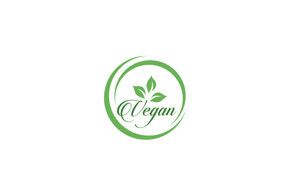 Download Free Vegan Cursive Text Logo Grafico Por Shawlin Creative Fabrica for Cricut Explore, Silhouette and other cutting machines.