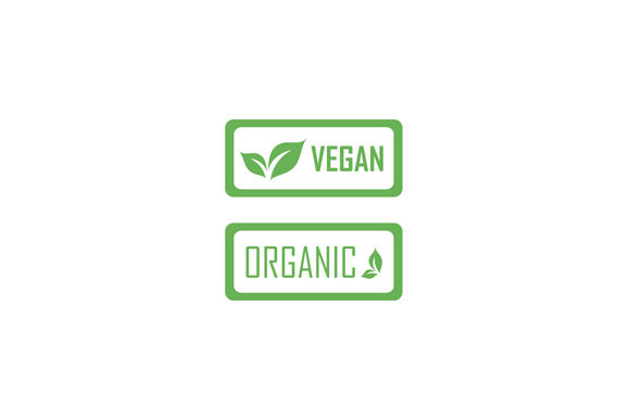 Download Free Vegan Logo Or Stamp With Leaf Graphic By Shawlin Creative Fabrica for Cricut Explore, Silhouette and other cutting machines.