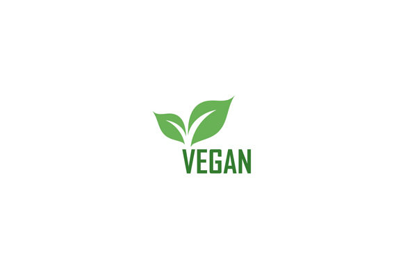 Download Free Vegan Logo With Green Leaves Graphic By Shawlin Creative Fabrica for Cricut Explore, Silhouette and other cutting machines.