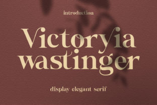 Print on Demand: Victoryia Wastinger Serif Font By TempCraft