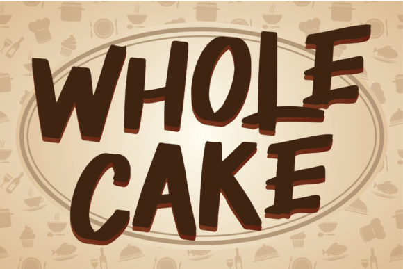 Print on Demand: Wholecake Display Font By Runsell Graphic
