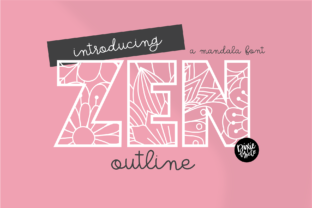 Print on Demand: Zen Display Font By dixietypeco