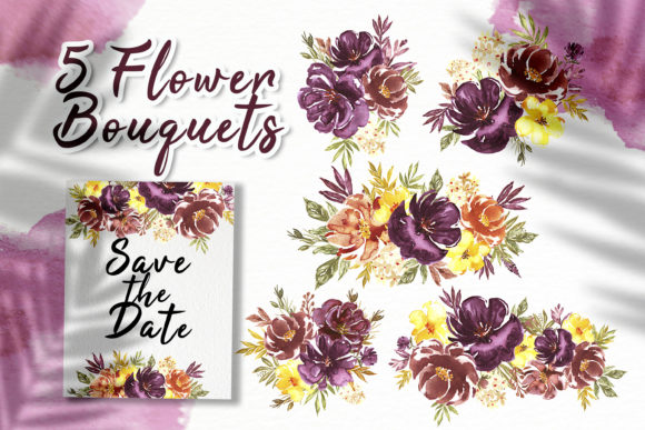 Print on Demand: Loose Flower Watercolor Illustration Graphic Crafts By OrchidArt - Image 2