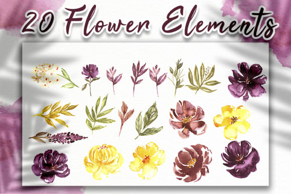 Print on Demand: Loose Flower Watercolor Illustration Graphic Crafts By OrchidArt - Image 6