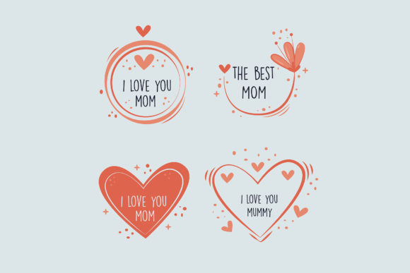 Download Free Mothers Day Hand Drawn With Hearts Graphic By Aprlmp276 for Cricut Explore, Silhouette and other cutting machines.