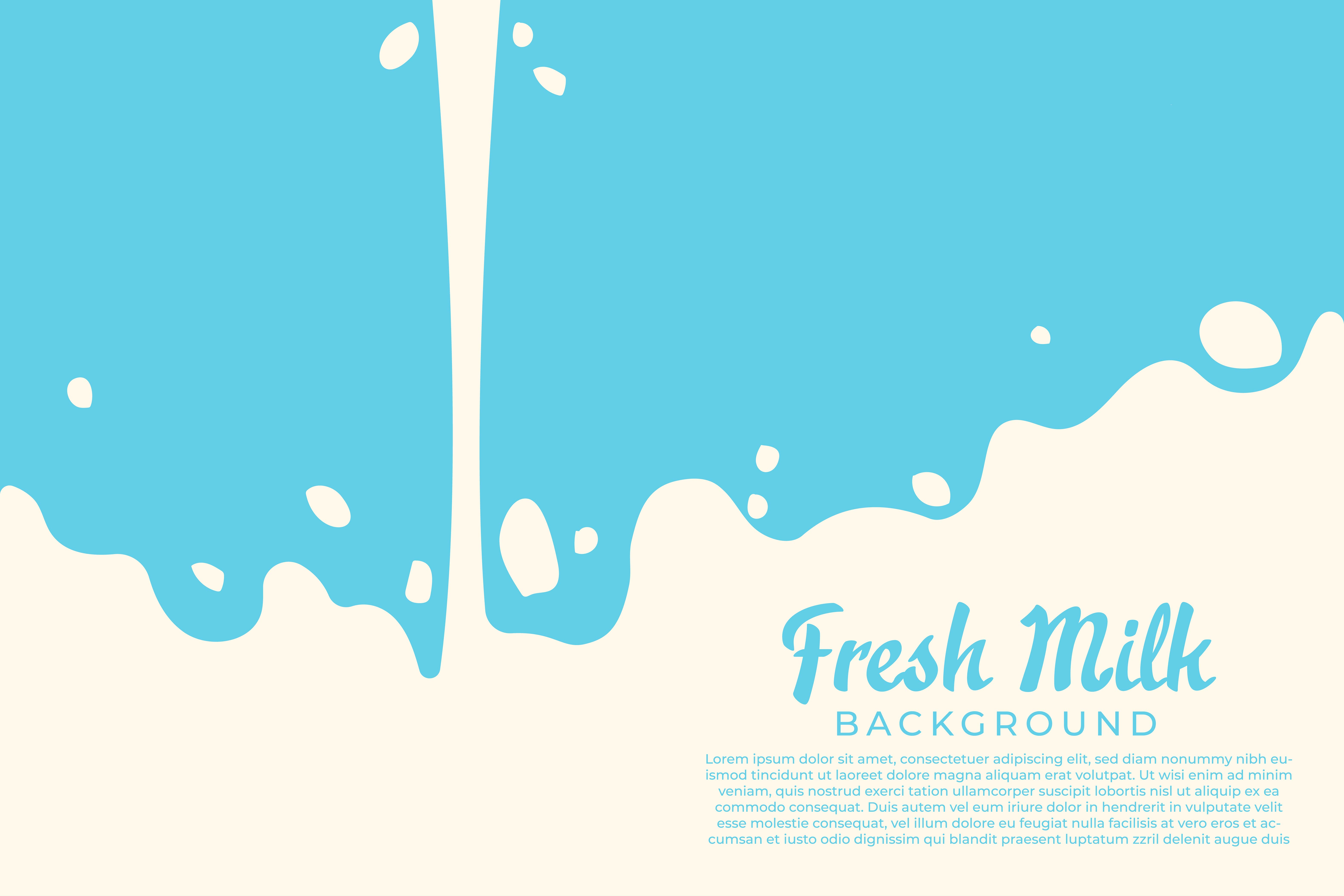Download Free Poster Background Fresh Milk Graphic By Frog Ground Creative for Cricut Explore, Silhouette and other cutting machines.
