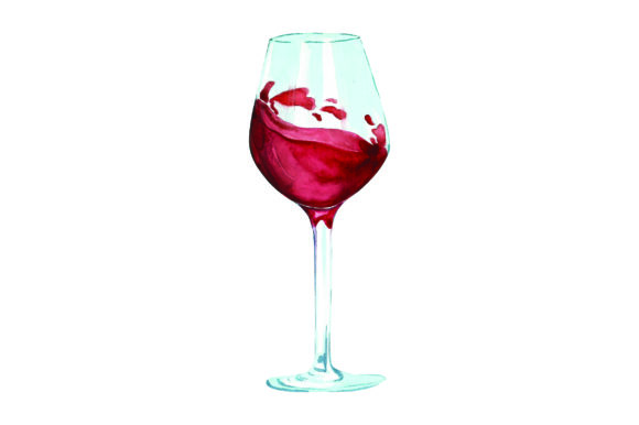 Wine Glass Wein Plotterdatei von Creative Fabrica Crafts