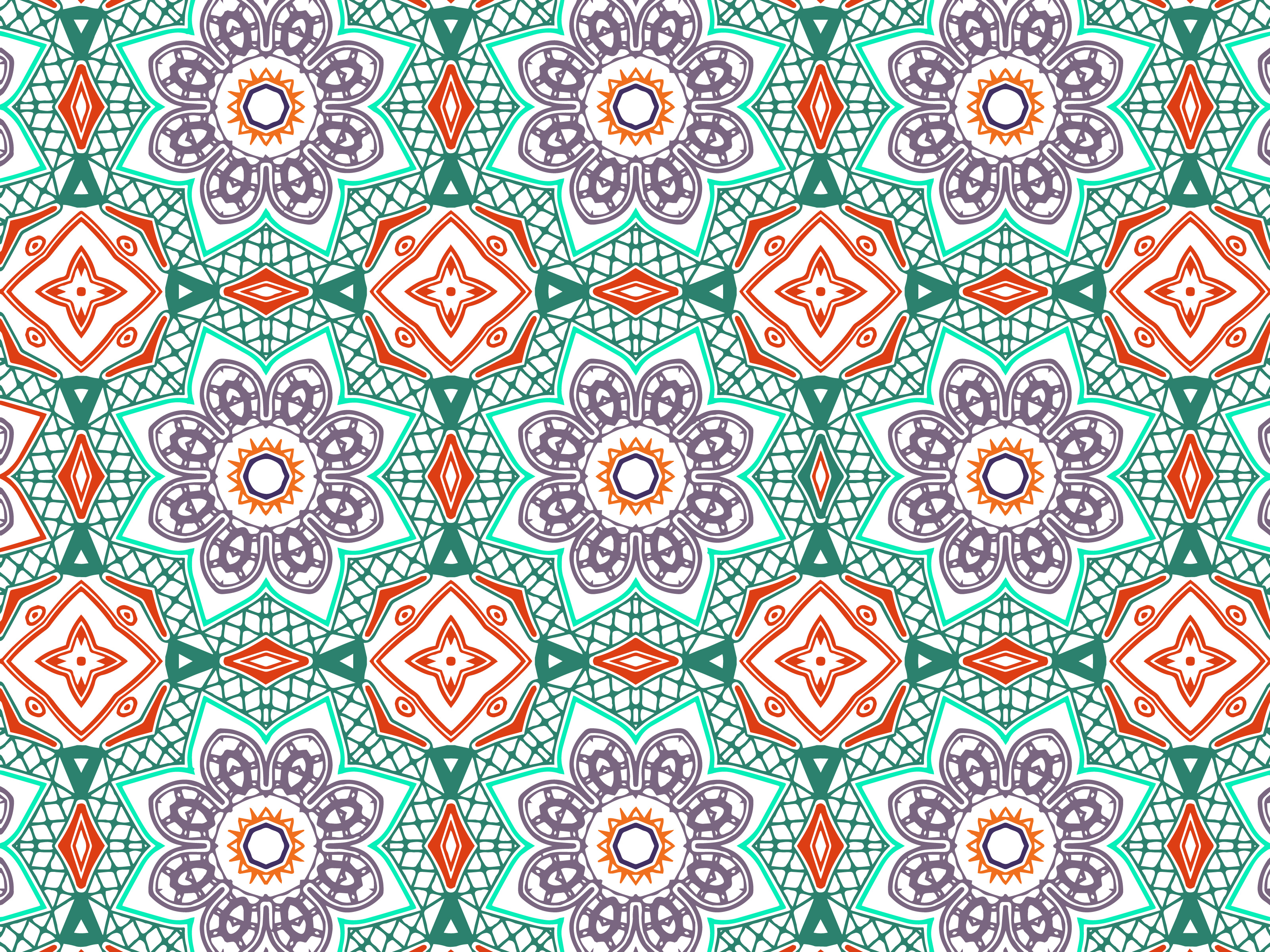 Download Free Abstract Pattern Purple Flower Design Graphic By Vectorceratops for Cricut Explore, Silhouette and other cutting machines.