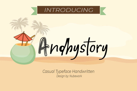 Print on Demand: Andhystory Script & Handwritten Font By iqbalfaizinm