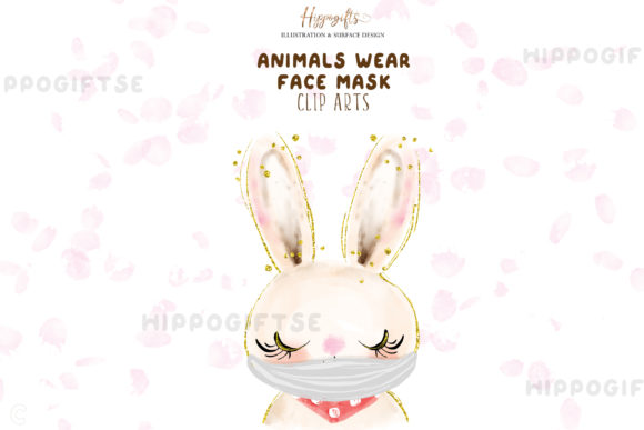 Download Free Animals Wear Face Mask Cliparts Graphic By Hippogifts Creative for Cricut Explore, Silhouette and other cutting machines.