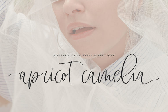 Print on Demand: Apricot Camelia Script & Handwritten Font By Masha Artifex