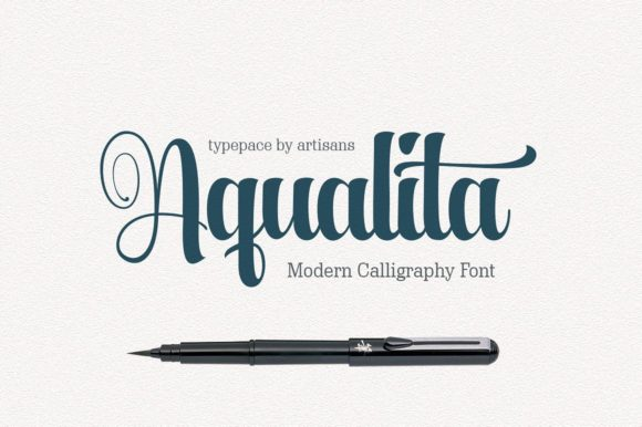 Print on Demand: Aqualita Script & Handwritten Font By Artisans