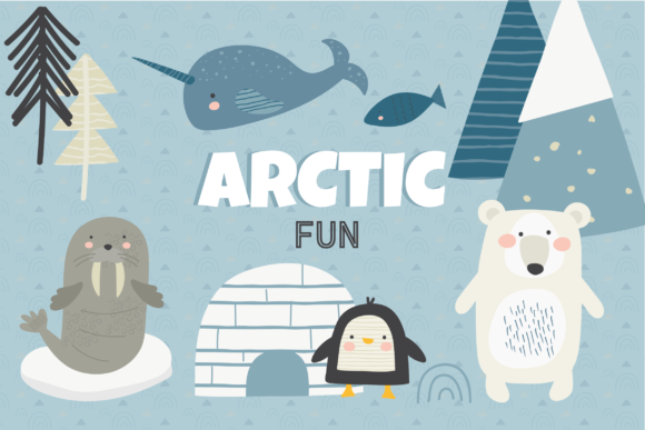 Print on Demand: Arctic Fun Clipart Graphic Illustrations By poppymoondesign