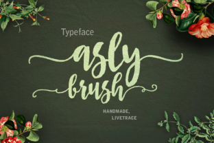 Print on Demand: Asly Brush Script & Handwritten Font By Artisans