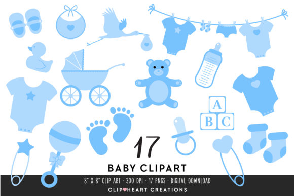 Download Free Baby Clipart In Blue Graphic By Clipheartcreations Creative for Cricut Explore, Silhouette and other cutting machines.