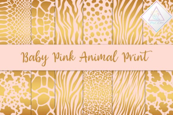 Print on Demand: Baby Pink Animal Print Digital Paper Graphic Backgrounds By fantasycliparts