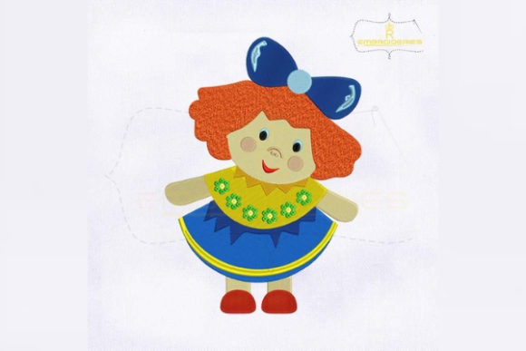 Beautiful and Colorful Doll Toys & Games Embroidery Design By RoyalEmbroideries