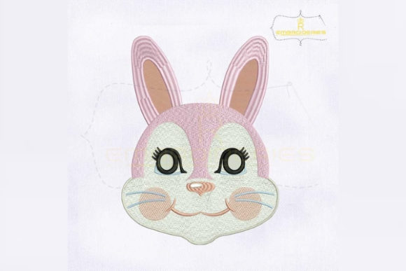 Beautiful Rabbit Mask Woodland Animals Embroidery Design By RoyalEmbroideries
