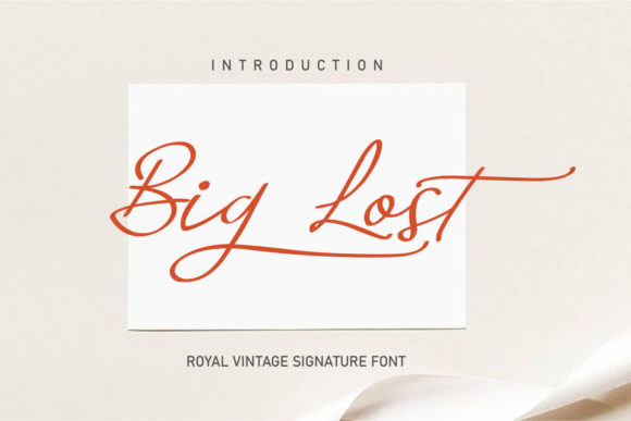 Print on Demand: Big Lost Script & Handwritten Font By Nico Muslib