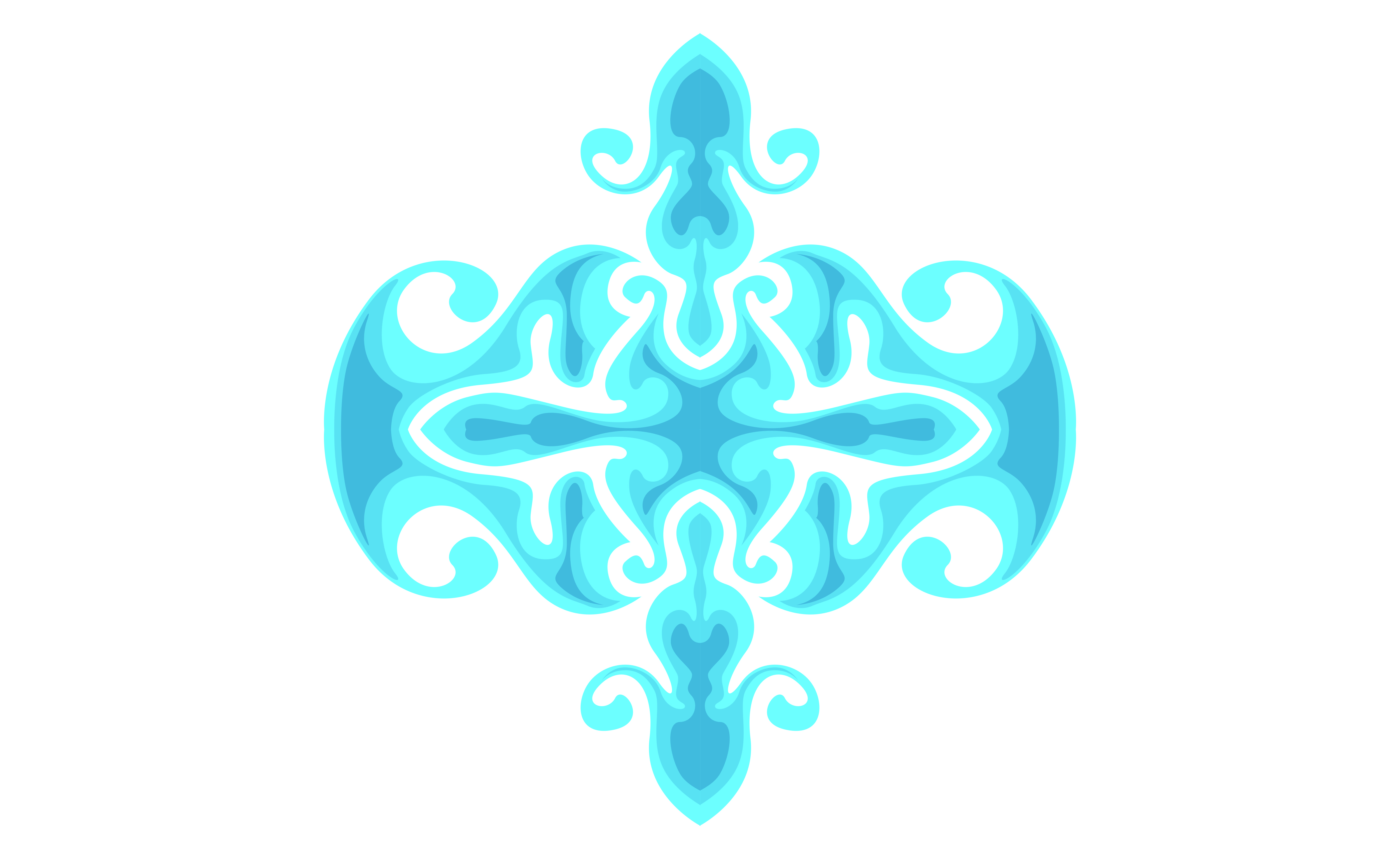 Download Free Blue Ornament Border Design Graphic By Arief Sapta Adjie for Cricut Explore, Silhouette and other cutting machines.