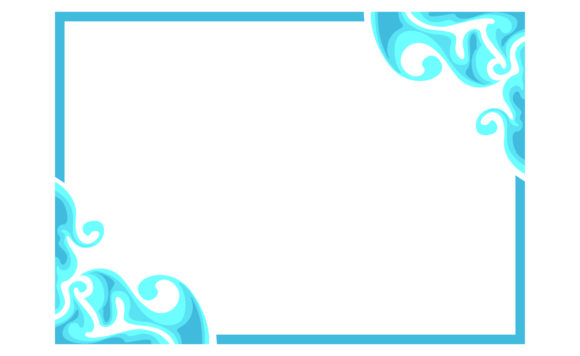 Download Free Blue Ornament Border Frame Design Graphic By Arief Sapta Adjie for Cricut Explore, Silhouette and other cutting machines.
