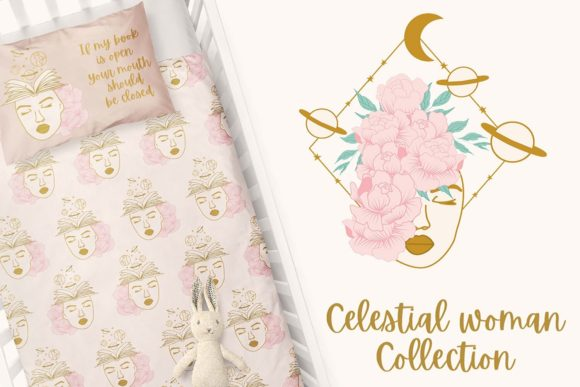 Print on Demand: Celestial Woman Collection Graphic Illustrations By Andreea Eremia Design