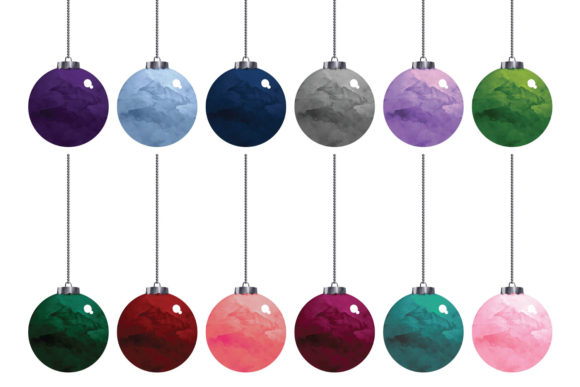 Download Free Christmas Baubles Clipart Graphic By Clipheartcreations for Cricut Explore, Silhouette and other cutting machines.