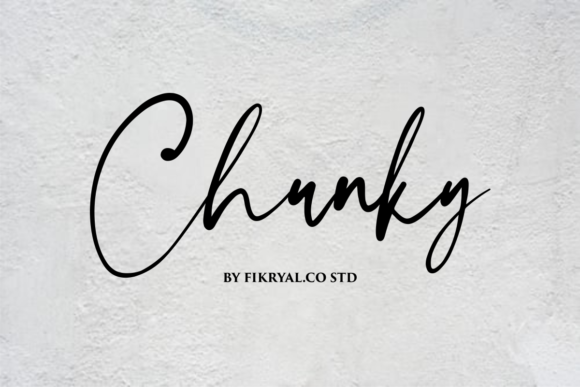 Print on Demand: Chunky Script & Handwritten Font By mfikryalif