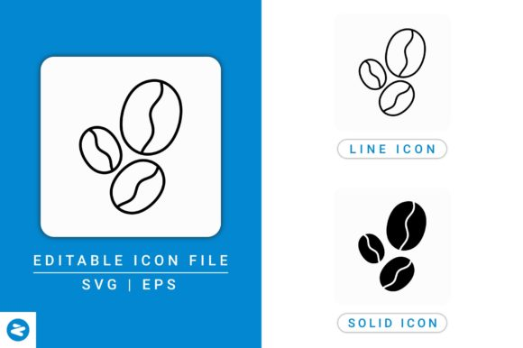 Download Free Coffee Beans Icons Set Graphic By Zenorman03 Creative Fabrica for Cricut Explore, Silhouette and other cutting machines.