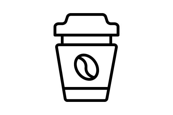 Download Free Coffee Cup Vector Line Icon Graphic By Deniprianggono78 SVG Cut Files