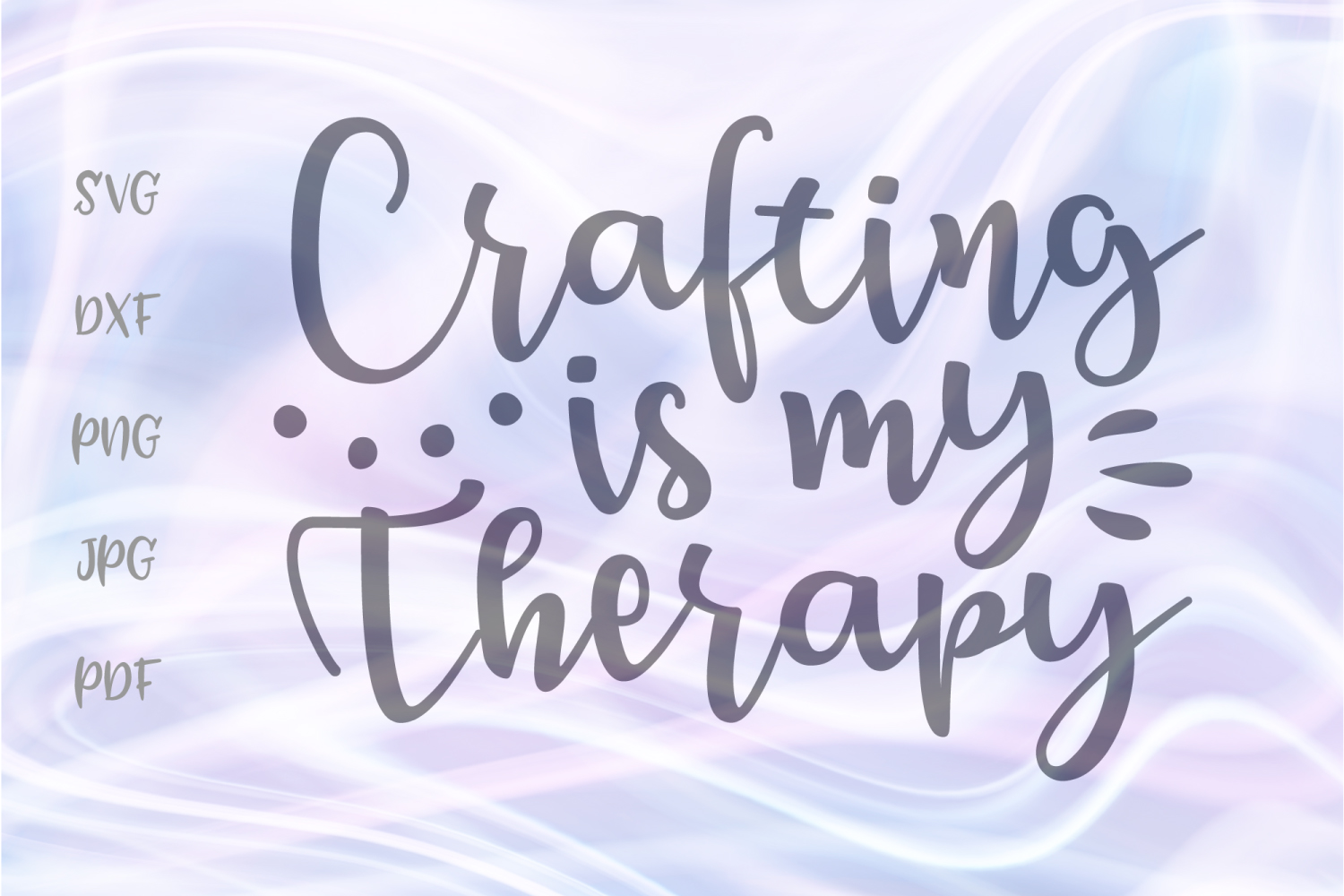 Download Free Crafting Is My Therapy Craft Girl Graphic By Digitals By Hanna for Cricut Explore, Silhouette and other cutting machines.