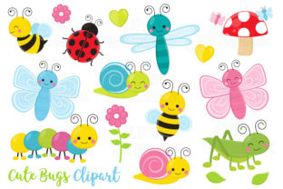 Cute Crawling Bugs Clipart Graphic Illustrations By magreenhouse