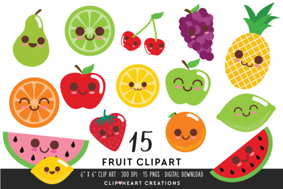 Download Free 1 Fruit Clip Art Designs Graphics for Cricut Explore, Silhouette and other cutting machines.