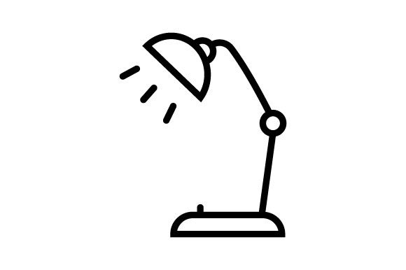 Download Free Desk Lamp Icon Line Vector Graphic By Deniprianggono78 for Cricut Explore, Silhouette and other cutting machines.