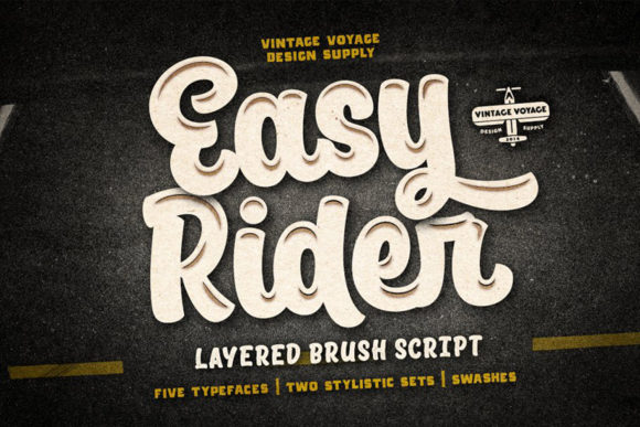 Print on Demand: Easy Rider Display Font By vintagevoyageco