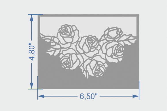 Download Free Floral Pocket Wedding Invitation Graphic By Zhaclin Creative for Cricut Explore, Silhouette and other cutting machines.