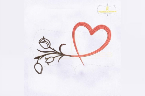 Download Free Flower Bud Heart Creative Fabrica for Cricut Explore, Silhouette and other cutting machines.