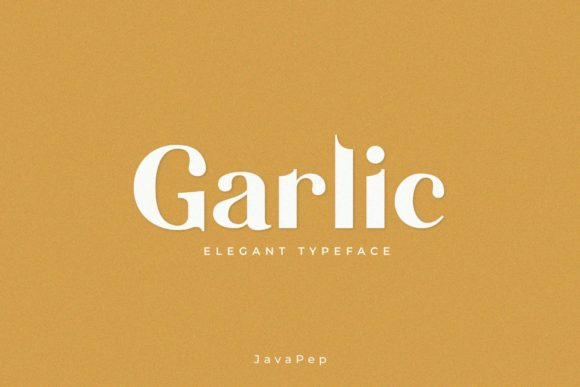Print on Demand: Garlic Sans Serif Font By JavaPep