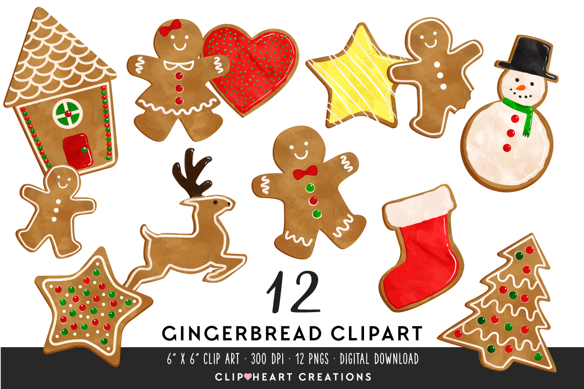 Download Free Gingerbread Treats Clipart Graphic By Clipheartcreations for Cricut Explore, Silhouette and other cutting machines.