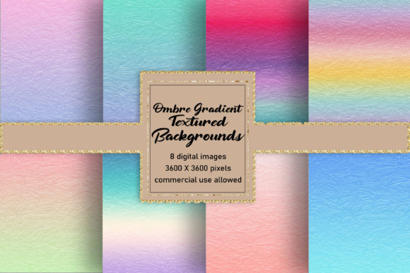 Glassy Ombre Gradient Backgrounds Graphic Backgrounds By AM Digital Designs