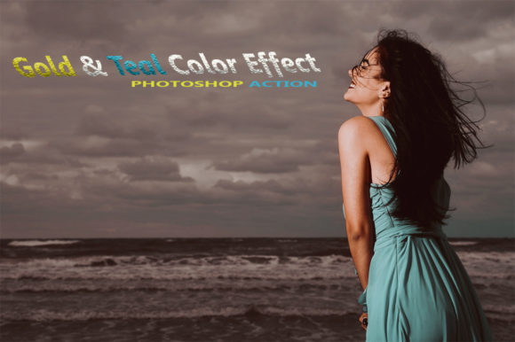 Gold & Teal Effect Graphic Actions & Presets By RS DESIGN