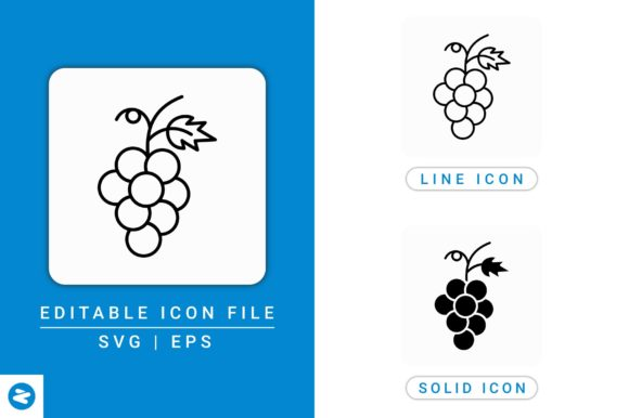 Download Free Grapes Icons Set Graphic By Zenorman03 Creative Fabrica for Cricut Explore, Silhouette and other cutting machines.