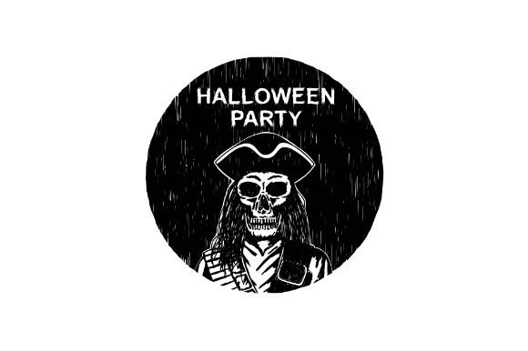 Download Free Halloween Pirate Lord Skeleton Badge Graphic By Firdausm601 for Cricut Explore, Silhouette and other cutting machines.
